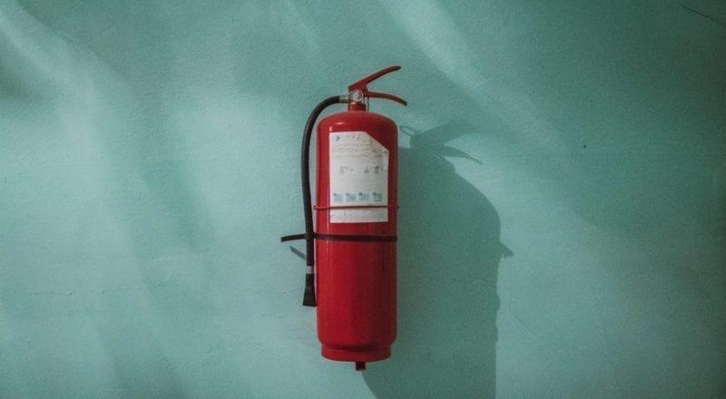 Santé et sécurité pour évènements : Garder un extincteur à portée de main