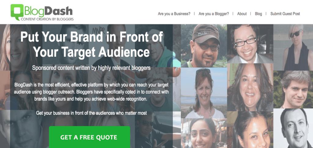 Outils pour obtenir des partenariats avec les médias de l'évènementiel : BlogDash